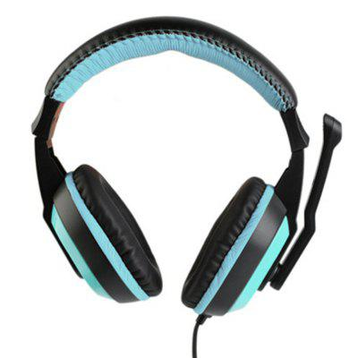 3.5mm Sport Headphone Game Low Bass Stereo with Mic Wired for PC Laptop Computer