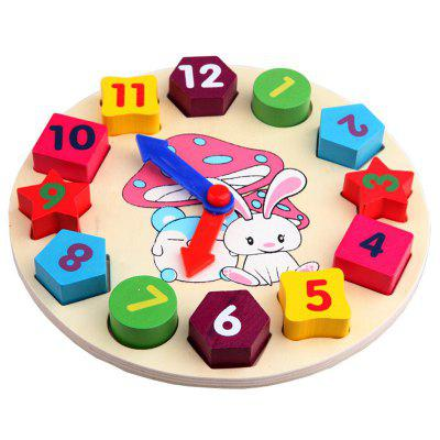 Children Time Shape Matching Recognize Toy