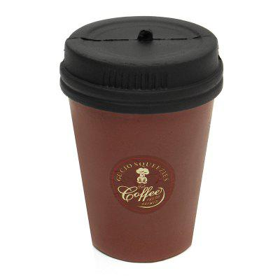 Cute Jumbo Squishy Slow Rising Brown Coffee Cup Toy