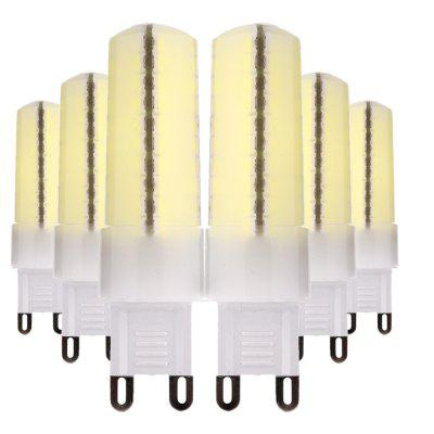 YWXLight 6PCS Dimmable 5730 SMD Silicone Lights 80 LEDs Mini Lamp AC 110V / 220V