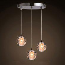 Meteor Shower Chandelier 3 Fashion Crystal Ball for Restaurant