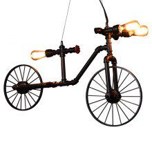 Retro Industrial Style Creative Cafe Music Bar Bicycle Pendant Light