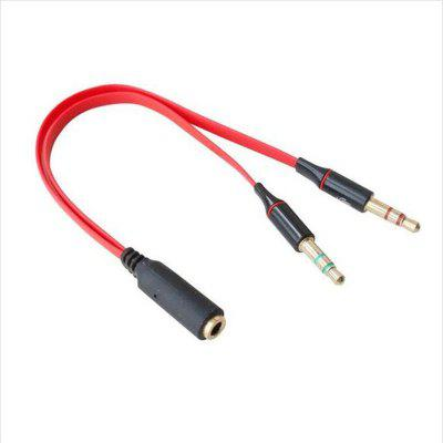 3.5MM Y Splitter 2 Jack Male to 1 Female Mic Audio Cable