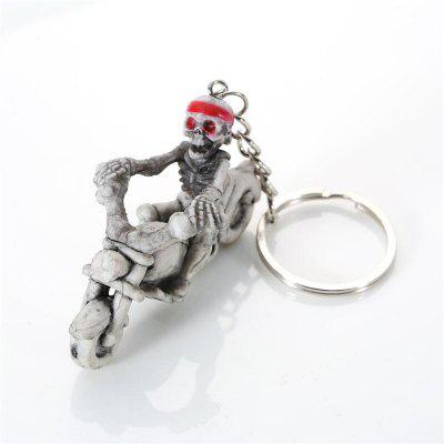 Halloween High Quality Rubber Ride Motorcycle Keychain