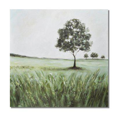 STYLEDECOR Modern Hand Painted Abstract Green Tree Lawn Oil Painting