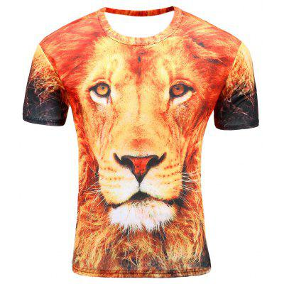 Men's Summer 3D Digital Print Loose T-Shirt