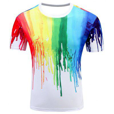 Men's Short Sleeve Summer Print 3D Personality T-Shirt