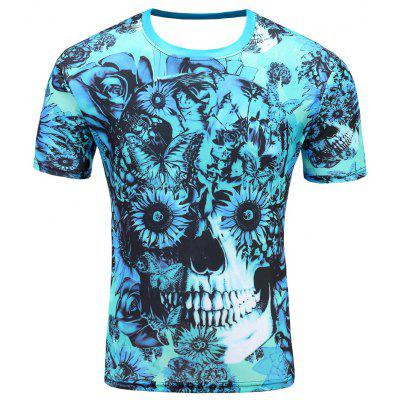 Men's Short Sleeve Summer Print 3D Personalized Cartoon T-Shirt