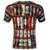D-55 Men's Summer Short Sleeve Digital Print 3D Beer Bottle T-Shirt - MULTI