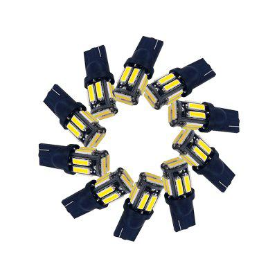 10PC T10 194 W5W 7020 10SMD 1W Small Power  Automobile Lamp  Ceiling