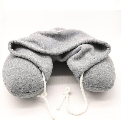 Plane Nap U-Shaped Travel Pillow with A Hat