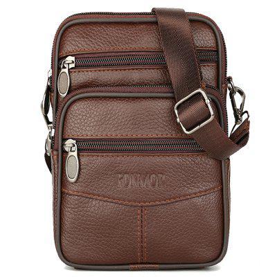 0075df2e63 Mini Genuine Leather Messenger Bags For Men Vintage Small Mobile Cell Phone  Case