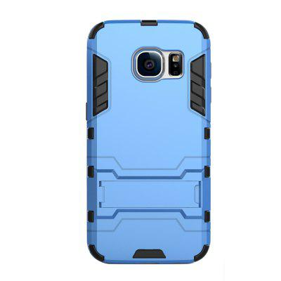 Case for Samsung S7 with Stand Back Cover Solid Colored Hard PC Material