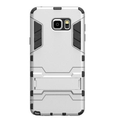 Case for Samsung Note 5 with Stand Back Cover Solid Colored Hard PC Material