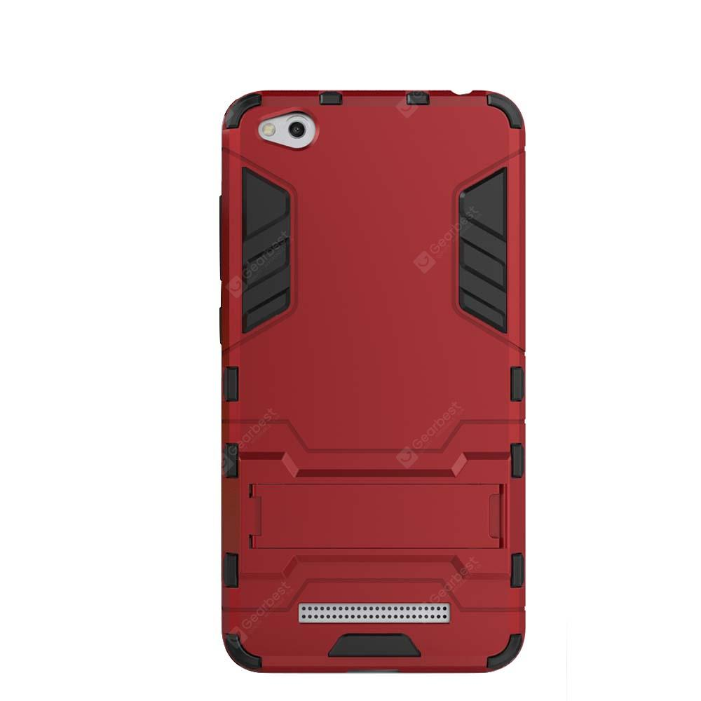 Case for Xiaomi Redmi 4A with Stand Back Cover Solid Colored Hard