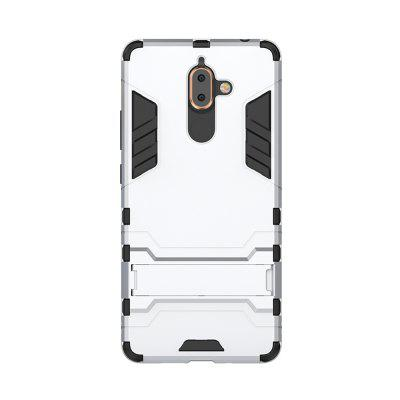 Case for NOKIA 7 Plus 2018 With Stand Back Cover Solid Colored Hard