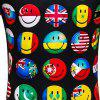 Men's Summer Short Sleeve Digital Print 3D Smiley T-Shirt - MULTI