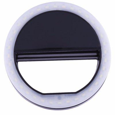 Black Portable Selfie Ring Light For Mobile Phone Led Flash Fill Lamp