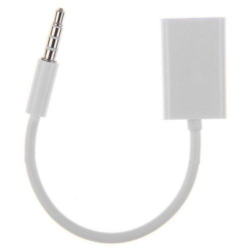 3.5mm Male AUX Audio Plug Jack to USB 2.0 Female Converter Cable Cord Car EC
