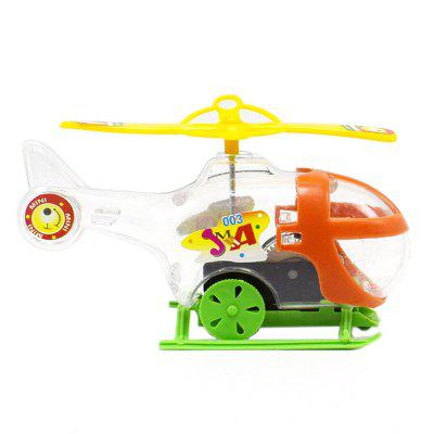 Transparent Mini Windup Winding Helicopter Children Toy