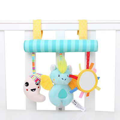 Crib Stroller Rattles Around Baby Distorting Mirror Animals Plush Toys