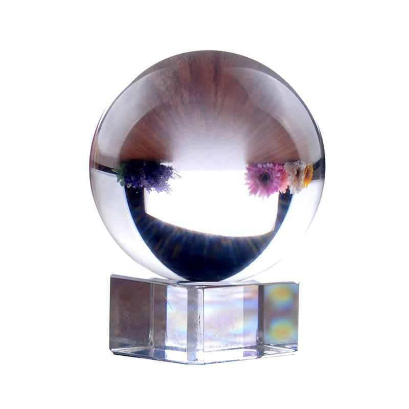 8CM Crystal Sphere Furnishing Articles Photography Lens Glass Ball - Transparent