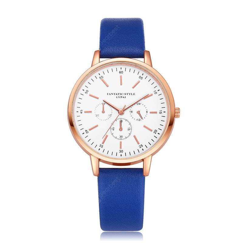 Lvpai P355 Women Three Eyes Business Leather Wrist Watches
