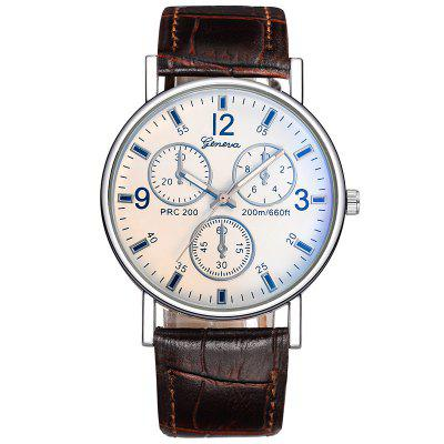 Geneva Man Fashion Business Quartz Watch