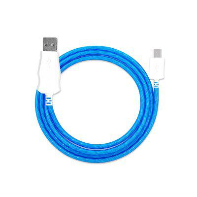 Flowing Moving Light Led Light-up USB Data Sync Charger Cable for Android