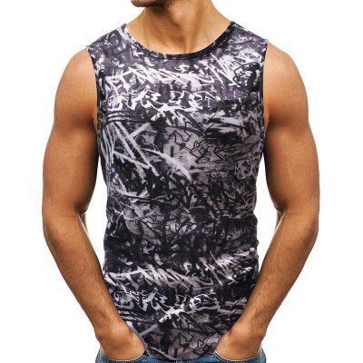 2018 New Summer Men's Fashion Personality Impreso Tank Top