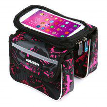 Bicycle Front Beam Bilateral Illustrated on Touch Screen Mobile Phone Bag