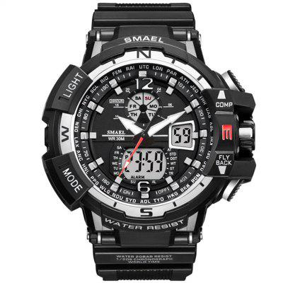 SMAEL Luxury Brand Men Digital Sport Relojes Reloj de doble pantalla