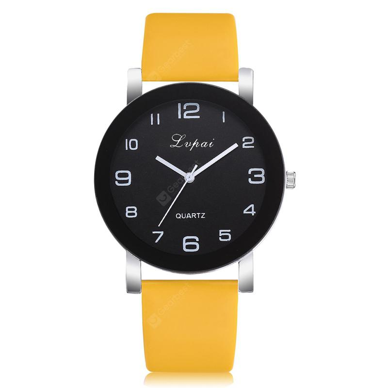 Lvpai P383 Multicolor Belt Black Frame Casual Ladies Quartz Watch