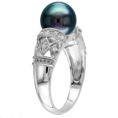 Fashion Lady Carved Engagement Jewelry Ring