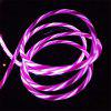 Flowing Moving Light Led Light-up USB Data Sync Oplaadkabel voor Type-c - BRIGHT NEON PINK