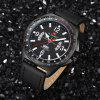 NAVIFORCE Fashion Sports Men's Quartz Date Clock Military Watch - BLACK