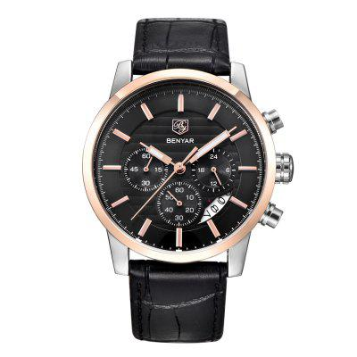 Image result for BENYAR Fashion Chronograph Sport Mens Top Brand Luxury Military Quartz Watch gearbest