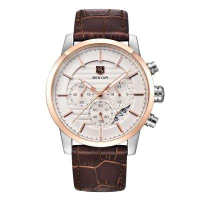 BENYAR Fashion Chronograph Sport Mens Top Brand Luxury Military Quartz Watch