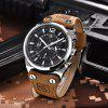 BENYAR Mens Top Luxury Chronograph Sport Fashion Brand Waterproof Military Watch - SILVER