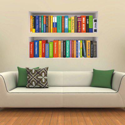 3D Creative Decoration Wallpaper Bookshelf Books