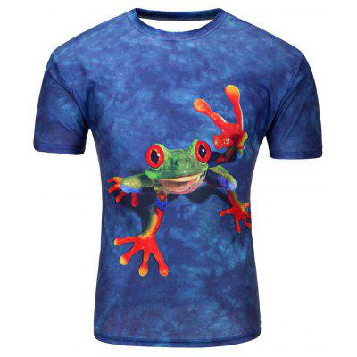 Summer Men's Short-Sleeved Personality Digital Printing 3D Loose T-Shirt