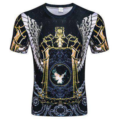 Men's Digital Print Summer Short Sleeve 3D T-Shirts