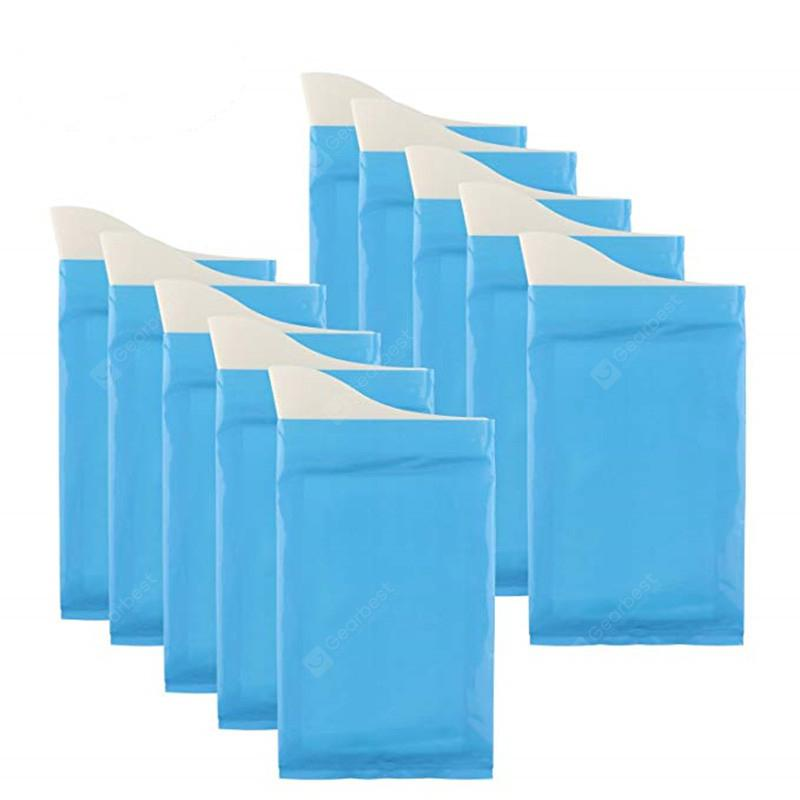 600ML Car Mini Emergency Urination Vomit Bag 10PCS - 10pcs Dodger Blue