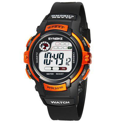 SYNOKE Children Fashion LED Waterproof Sports Watch
