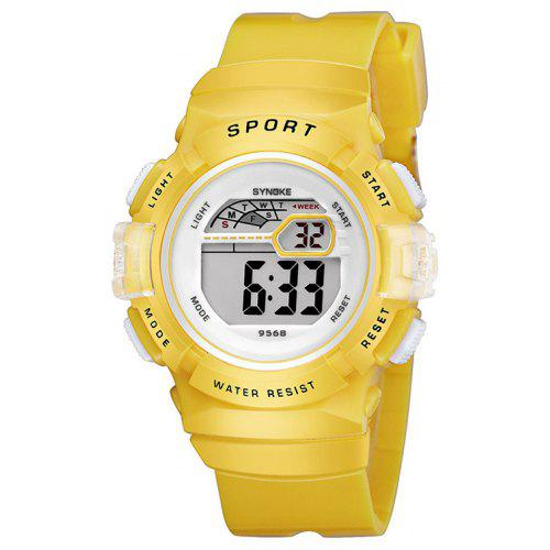 SYNOKE Children Candy Color LED Waterproof Electronic Watch