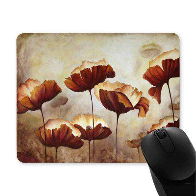 Interest Print Non-slip Rubber Poppies Mouse Pad дефлекторы на окна voron glass corsar volkswagen amarok 2010 н в пикап комплект 4шт def00551