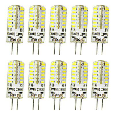 OMTO 10PCS LED G4 Bulb Mini Corn Bulb AC/DC12V 220V 48LED Can Replace Halogen purple color 60 led illuminated ring lamps for stereo biological zoom stereo microscope with 220v or 110v adapter