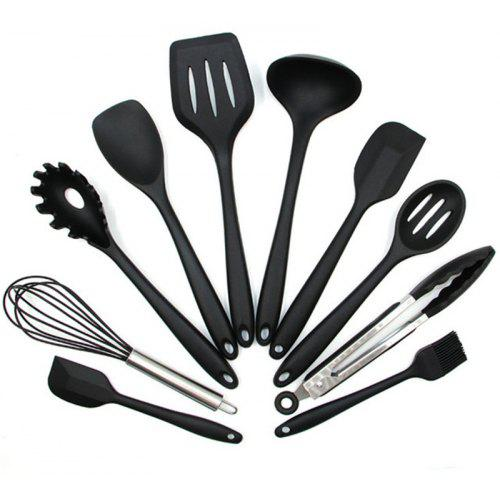 Silicone Heat Resistant Kitchen Utensils Baking Cooking Tool Sets 10PCS
