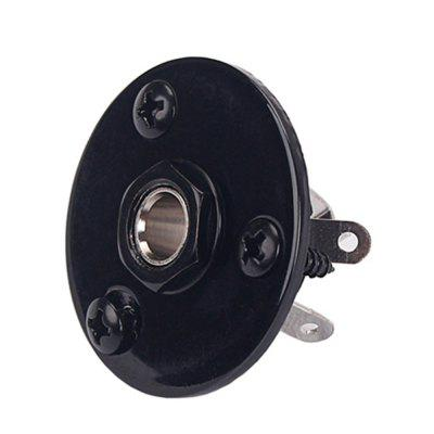 Circular Plate Pickup Output Jack Plug Socket for Bass Guitar