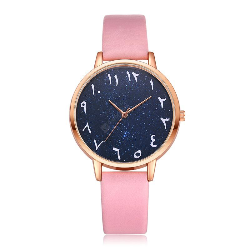 Lvpai P365 Casual PU Leather Creative Quartz Watch